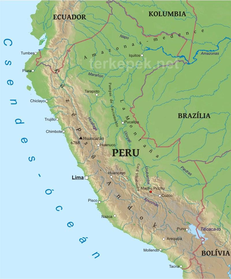 peru térkép Peru domborzati térképe peru térkép